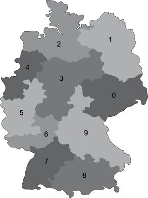 Fachhandel PLZ Karte
